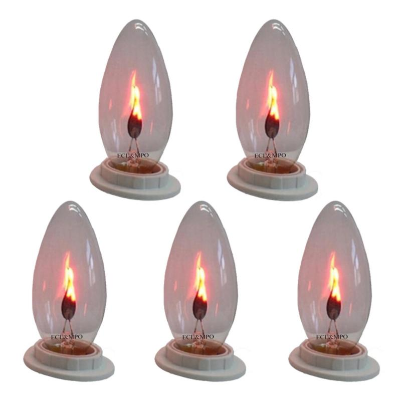 Bộ 5 bóng đèn lửa trang trí 3W - E12