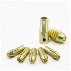 Hình ảnh Bộ 5 đầu kẹp chế máy khoan mini cầm tay từ Motor Trục 3.17mm