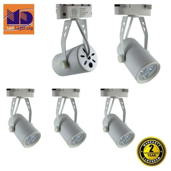 Bộ 5 Đèn led rọi ray vỏ trắng ánh sáng vàng 3W - MD61