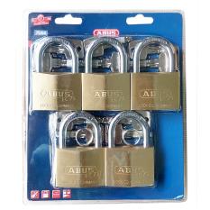Hình ảnh Bộ 5 ổ khóa đồng chìa chủ ABUS EC 75/60 MK5 (Vàng đồng)