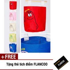 Bộ 5 túi treo tường Flancoo 3931 (Nhiều màu) + Tặng thẻ tích điểm Flancoo