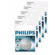 Chiết Khấu Bộ 5 Vỉ 1 Vien Pin Philips Minicell Cr2025 3V Trắng Philips