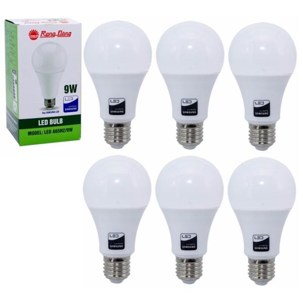 Bộ 6 Bóng đèn LED Bulb Rạng Đông 9W E27 ChipLed Samsung