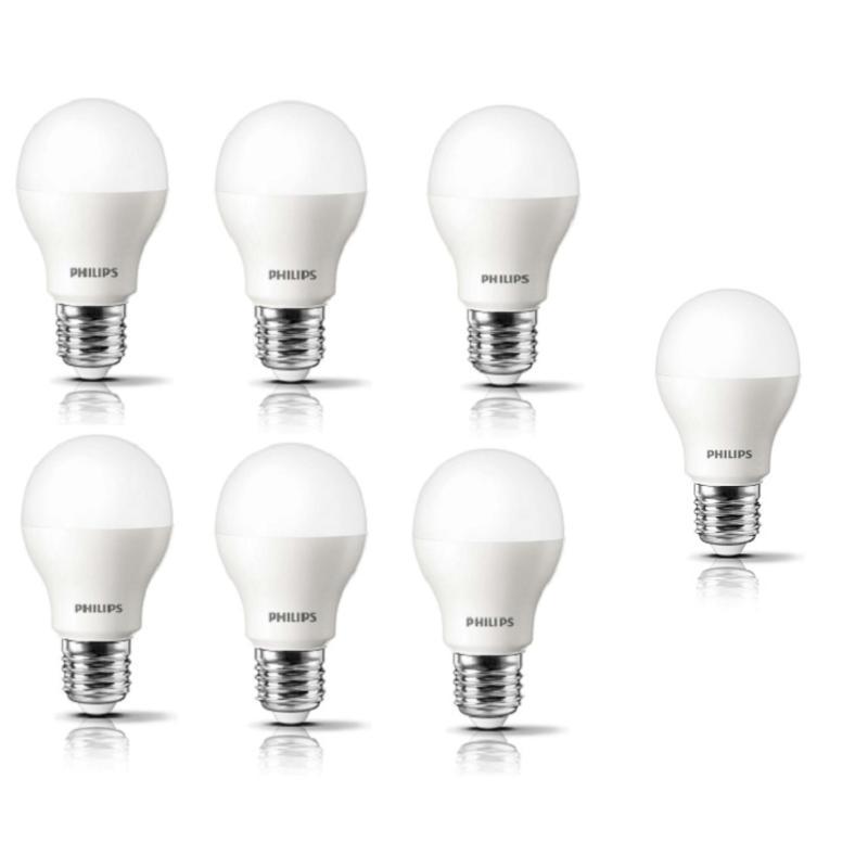 Bộ 6 bóng đèn Philips LED ESS LEDBulb 9W đuôi E27 230V A60 ánh sáng (Trắng, Vàng)+Tặng 1 bóng đèn Philips LED ESS LEDBulb 9W