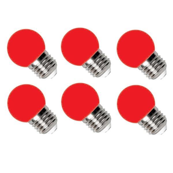 [HCM]Bộ 6 Đèn LED Bulb Điện Quang 1W Đỏ E27