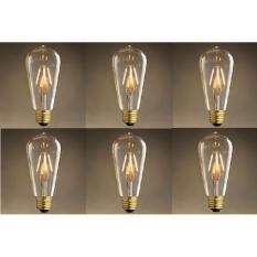 Mã Khuyến Mại Bộ 6 Đen Led Edison T64 4W Trang Tri Nghệ Thuật Hải Dương