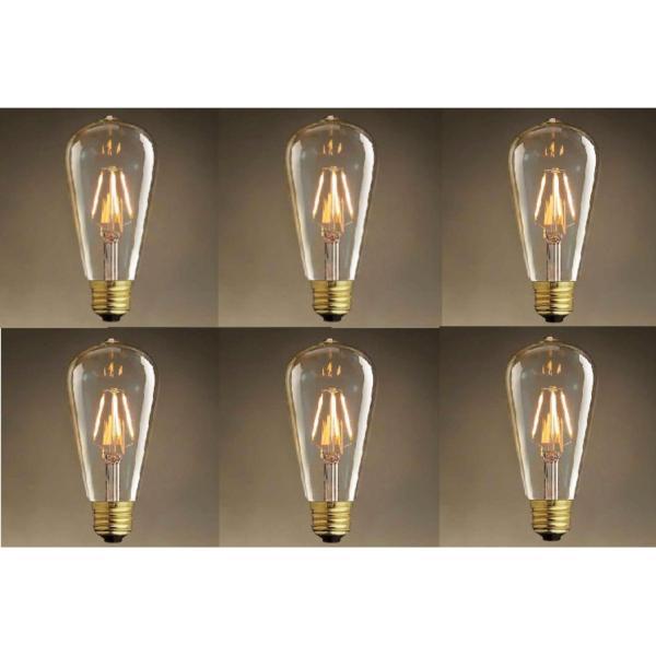 Bộ 6 Đèn led Edison T64 4w trang trí nghệ thuật