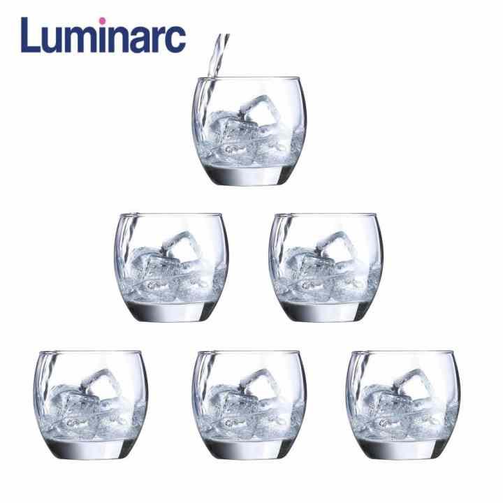 Bộ 6 ly thuỷ tinh thấp Luminarc Salto 320ml G2562