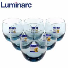Bán Bộ 6 Ly Thủy Tinh Thấp Luminarc Salto Ice Mazarine 320Ml L2258 Xam Khoi Rẻ