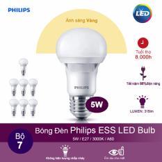 Giá Bán Bộ 7 Bong Đen Philips Ess Ledbulb 5W 3000K Đuoi E27 230V A60 Anh Sang Vang Trong Hồ Chí Minh