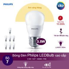 Bộ 7 Bong Đen Philips Ledbulb 3 5W 3000K Đuoi E27 230V P45 Anh Sang Vang Philips Rẻ Trong Hồ Chí Minh