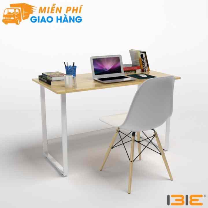 Bộ bàn làm việc Rec-F trắng và ghế Eames trắng - IBIE