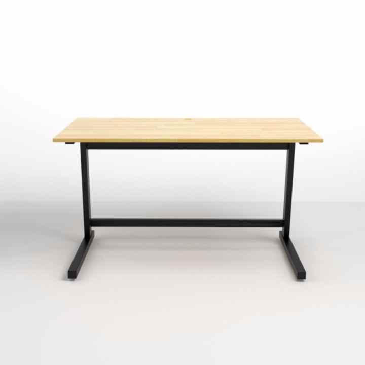 Bộ bàn làm việc Rec-Z đen và ghế Eames đen - IBIE
