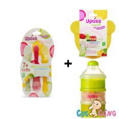 Giá Bán Bộ Bộ 3 Thia Ăn Dặm Upass Chen Upass Hinh Gấu Set 3 Hộp Đựng Sữa Bột Upassup8009Ct Upass