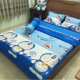Bộ Chăn Drap Cotton Poly Anh Sao Doremon Bi Thư 1M6 2M Rẻ