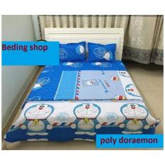 Bộ Chăn Ga Gối Poly Doraemon 1M6X2M Nguyên