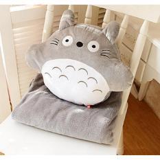Chiết Khấu Bộ Chăn Gối Văn Phong 3 Trong 1 Totoro Tron Xam Dori Có Thương Hiệu