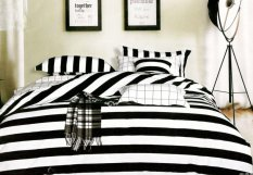 Giá Bán Bộ Chăn Ra Gối Cotton Tencel Shop 200X220 Cm Trắng Đen Tencel Shop Mới