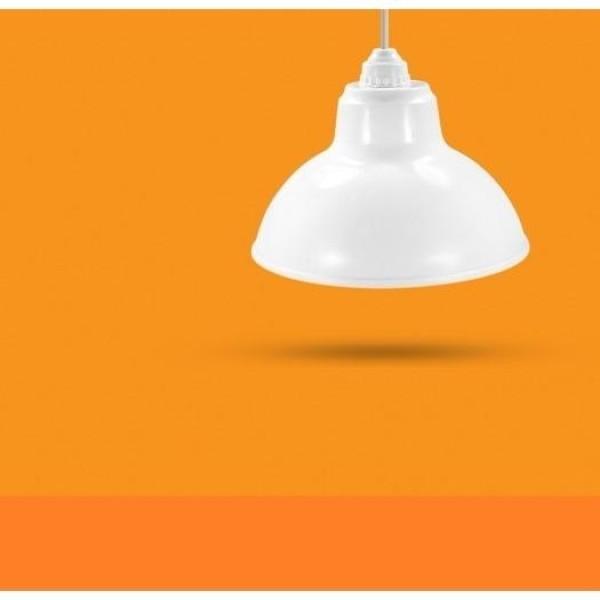 Bộ Chao đèn Chóa đèn nhựa trắng ngoài trời 30cm và đui E27 Kín nước