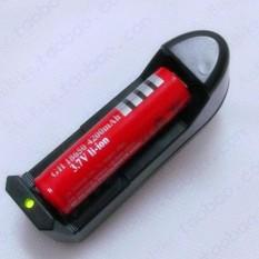 Hình ảnh Bộ combo 1Pin+1 sạc li-ion 18650 - 4200mAh 3.7V (dùng cho đèn pin, quạt mini sạc,...)