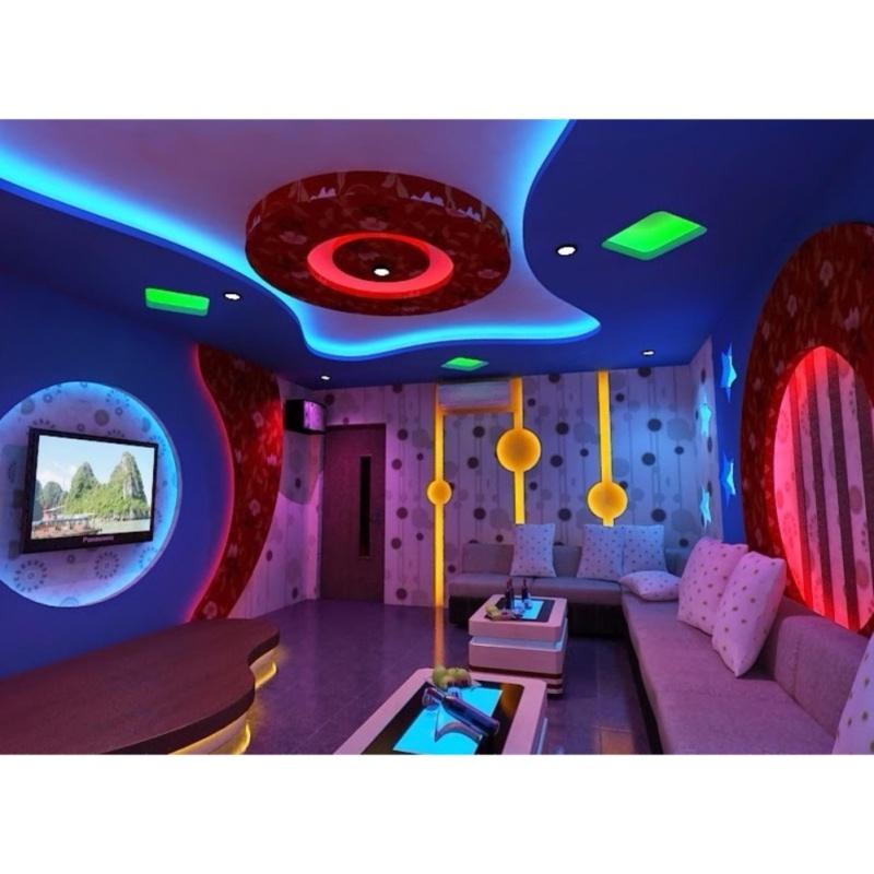 Bộ COMBO Đèn led dây hắt trần thạch cao 5050RGB - đổi 7 màu cho chu vi 20m + Nguồn + Bộ khiển