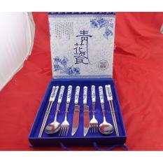 Mua Bộ Dao Dĩa Inox Cao Cấp Dung Cho 2 Người Set Couple Trực Tuyến