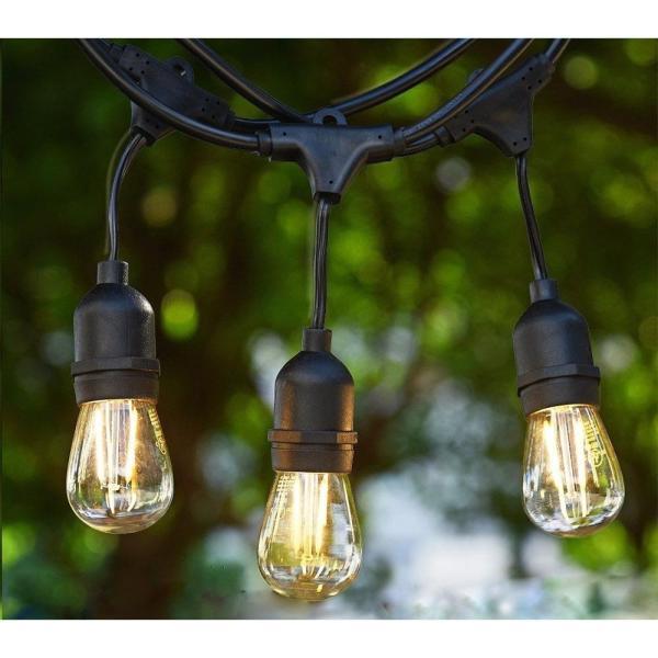 Bộ Dây đèn thả ngoài trời 5 mét và 15 bóng đèn Edison 2W