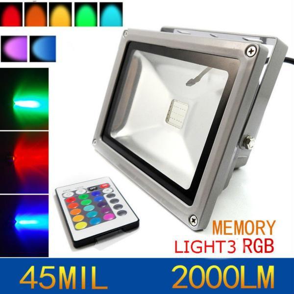 Bộ đèn pha LED đổi màu LIGHT3  50W có điều khiển