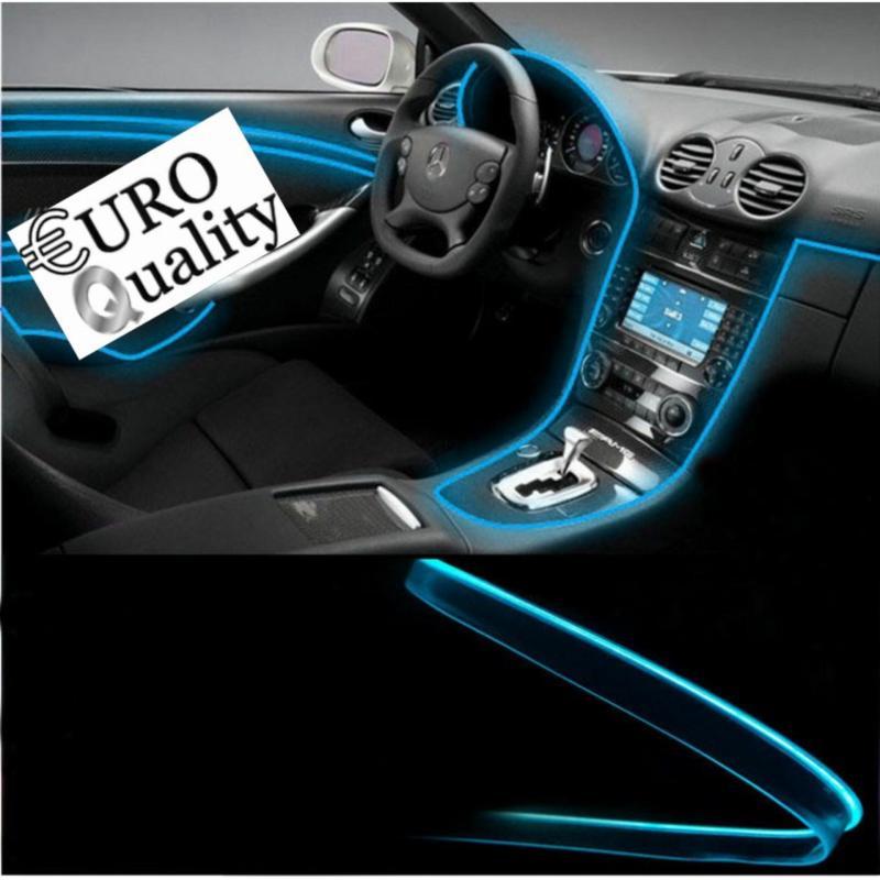 Bảng giá Bộ đèn led sợi quang 4m viền nội thất đổi nhiều màu nội thất ô tô (remote và 4 mét dây quang)