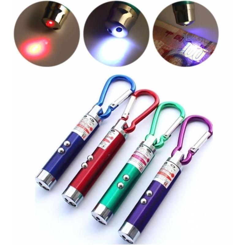 Bảng giá Bộ đôi móc khóa đèn pin 3 trong 1 ( Led + Laser + Soi tiền giả) tiện lợi