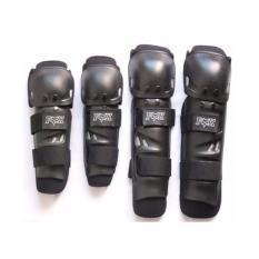 Hình ảnh Bộ giáp bảo vệ chân tay cho phượt thủ chuyên nghiệp Fox (đen)
