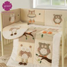 Mua Bộ Giường Cũi 100 Cotton Cao Cấp Grand Baby 01 Grand Rẻ