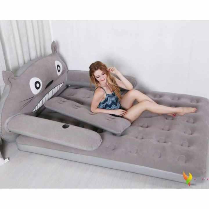 Bộ giường hơi cao cấp hình TOTORO đáng yêu_( tặng kèm bơm)