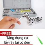 Bộ Khẩu Mở Siết Ốc Va Bugi 40 Chi Tiết Tặng Dụng Cụ Lấy Ray Tai Co Đen Oem Rẻ Trong Hà Nội
