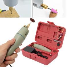 Bộ khoan mài cắt đa năng mini cầm tay 19 món WLXY kèm adaptor 12V (hộp nhựa đỏ)