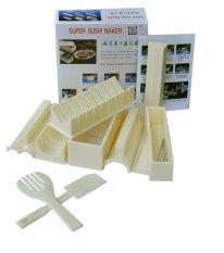 Ôn Tập Bộ Khuon Lam Sushi Đa Hinh 10 Mon Trắng Sushi Maker