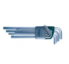 Bộ lục giác dài hệ inch Sata 09-104 (Xám bạc)