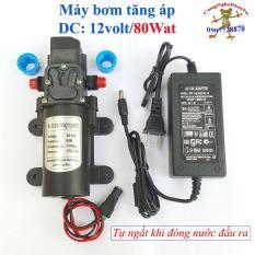 Bộ máy bơm tăng áp 80W 12 volt 5.5 Lit tự động ngắt