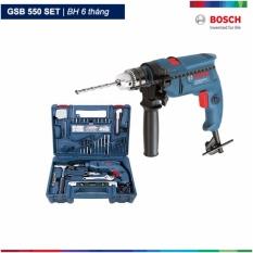 Hình ảnh Bộ máy khoan động lực Bosch GSB 550 và bộ dụng cụ 100 chi tiết Bosch