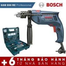 Bộ máy khoan động lực Bosch GSB 550 và bộ dụng cụ 100 chi tiết Bosch (Xanh) - Hãng phân phối chính thức