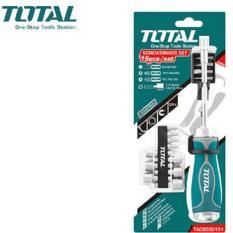 Bộ mũi vít 15 chi tiết Total TACSD30156