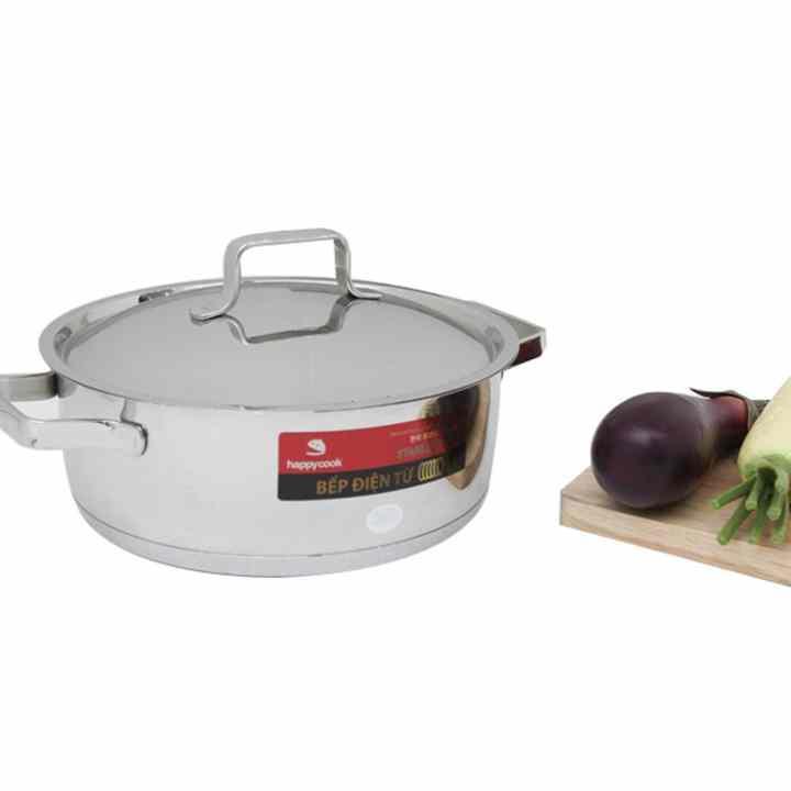 Bộ nồi quánh inox 3 đáy bếp từ Milan HC-06ML