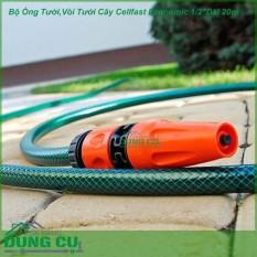Hình ảnh Bộ ống tưới vòi phun nước tưới cây tưới vườn rửa xe 20m Nhập Khẩu