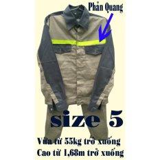 Hình ảnh Bộ quần áo bảo hộ lao động viền phản quang size 5 (PQ-01)