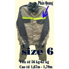 Hình ảnh Bộ quần áo bảo hộ lao động viền phản quang size 6 (PQ-01)