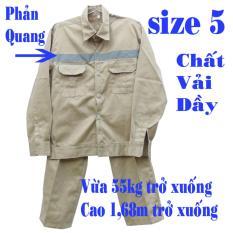 Hình ảnh Bộ quần áo lao động phản quang túi hộp (PQ-02) size 5