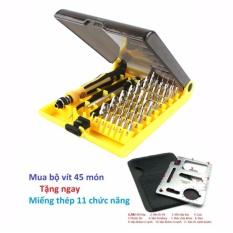 Bộ tua vít đa năng 45 món JK-6089 + tặng kèm miếng thép 11 chức năng