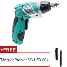 Hình ảnh Bộ vít điện Pro'skit PT-1361F (Xanh phối đen) + Tặng vít Pro'skit 5IN1 SD-804