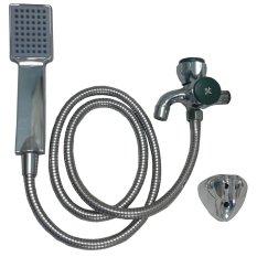 Bộ vòi nước củ sen và vòi tắm hoa sen PT COS 95 (inox).