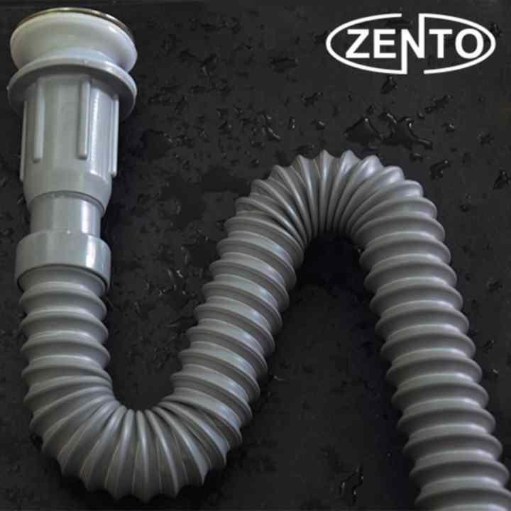 Bộ xi phông, ống xả mềm Zento ZXP014 ( Xám )